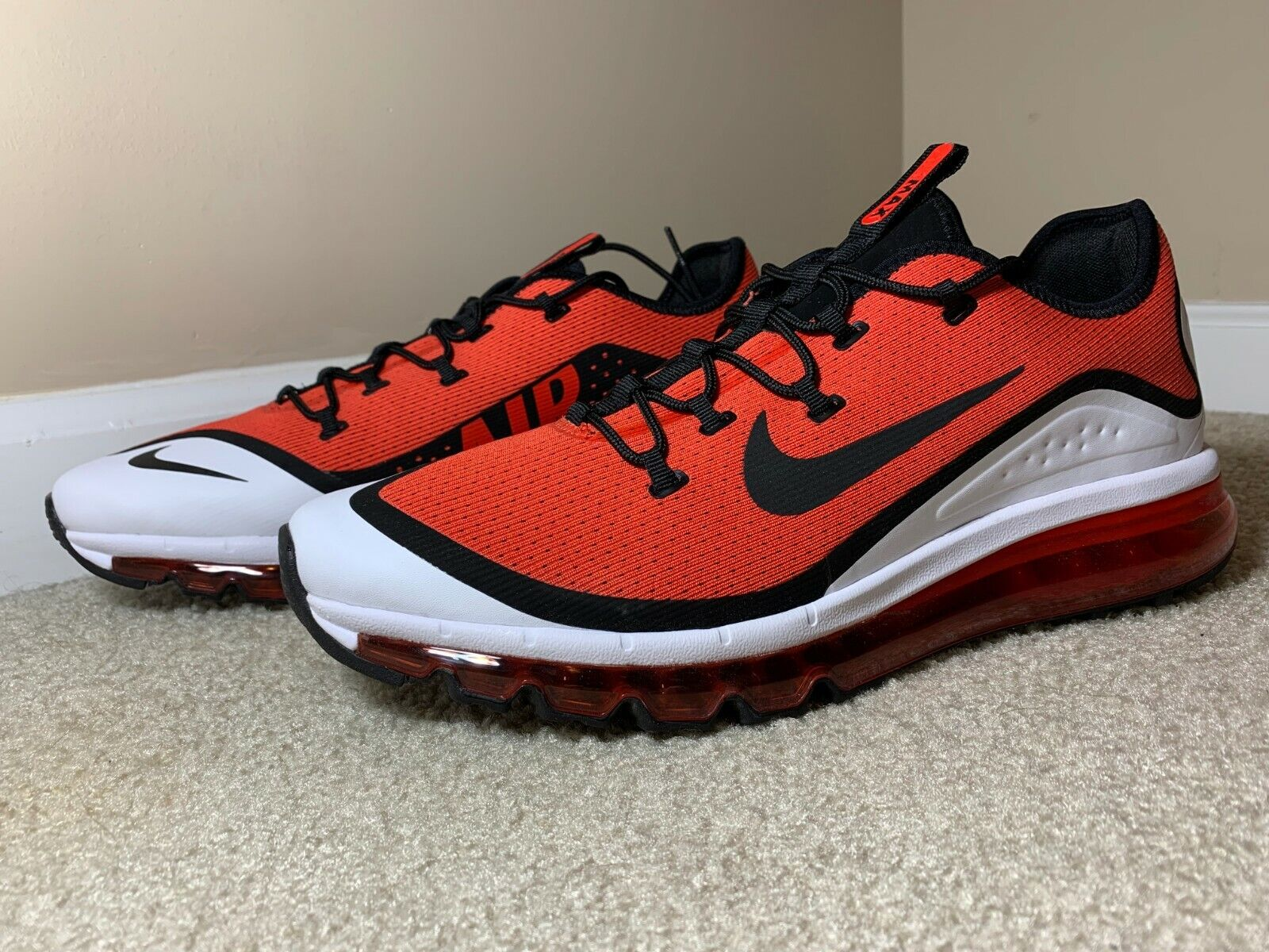 Nike Air Max More Casual Hd3 Men's Habanero Red White Ar1944 600 Size 12 for sale online | eBay