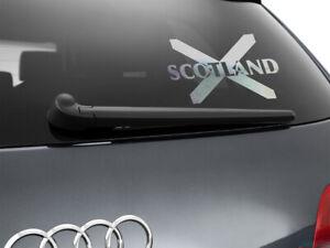 Scotland-Flag-Car-Sticker-Styling-Decal-Scottish-Flag-Chrome-Silver