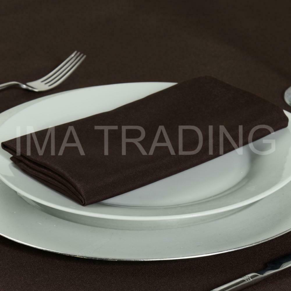 BROWN ROUND TABLECLOTH POLYESTER TABLE CLOTH VARIOUS SIZES