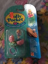 1993 Vintage Polly Pocket Secret Rose Fairy Ring  Bluebird Toys Mattel MOC
