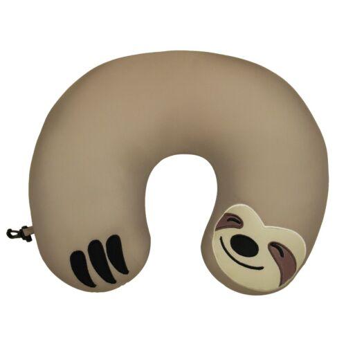 Huggable Sloth Kids Travel Support Neck Pillow Microbead Animal Cute Children