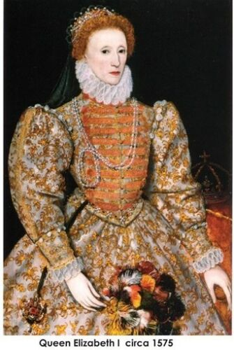 Queen Elizabeth I of England painting portrait circa 1575 poster print