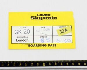 Laker Skytrain - Jaune Boarding Passe - Seat 32a - Années 1980 1kudmasz-07231723-102139720