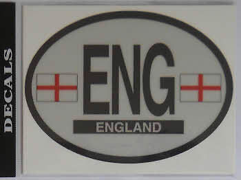 England English St George Country Flag Oval Decal