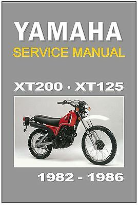 yamaha xt200 wiring diagram yamaha workshop manual xt200   xt125 1982 1983 1984 1985   1986  yamaha workshop manual xt200   xt125