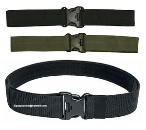 British-Army-Combat-Tactical-SWAT-Belt-Quick-Fasten-PLCE-US-New-Black-Green