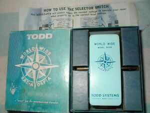 Todd Systems 900b World Wide Raz A Dapta Electric Shaver