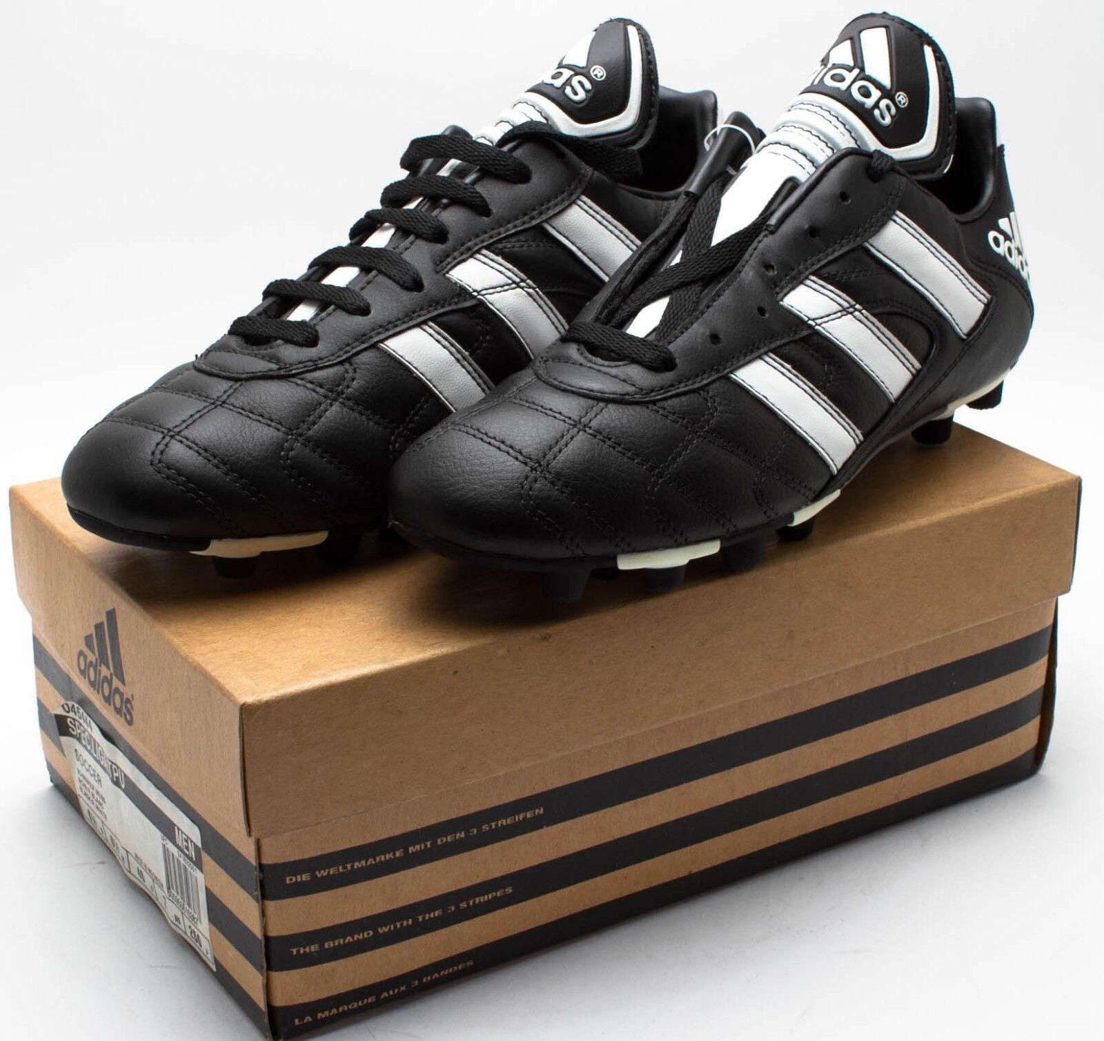 Adidas Men's Vintage 1999 Spec.Liga TPU Soccer Shoes 045444 Black/White 7 8 8.5