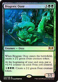 Biogenic Ooze FOIL Ravnica Allegiance NM Green Mythic Rare MTG CARD ABUGames