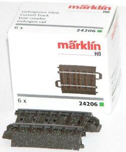 Marklin-H0-24206-S-Voie-C-Courbe-R2-437-5-mm-5-7-6-Piece-Neuf