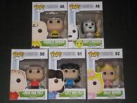 Peanuts Pop Vinyl Figures Snoopy Woodstock Charlie Brown Sally Lucy Linus Funko