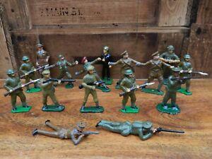 Figura-de-metal-de-plomo-WW1-Segunda-Guerra-Mundial-Paquete-de-soldado-britanico-16-figuras