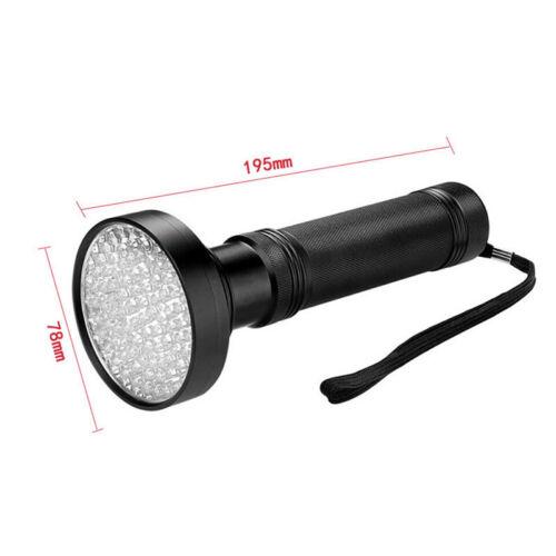 UV 100 Leds Flashlight 395nm Ultra Violet Torch Light Lamp Blacklight DetectorBB