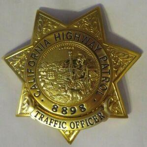 Movie Badge  CALIFORNIA  HIGHWAY PATROL Police Polizei CAHP Abzeichen Marke TrO