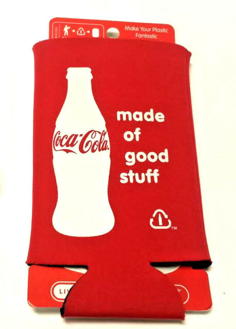 2 Coca Cola Can Koozie Coke Made of Good Stuff Cans or Bottles Keep Cold St199