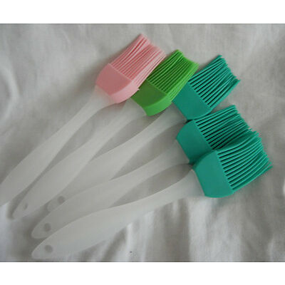 2pcs kitchen gadgets tools baking cook oil cream silicone brush BBQ Basting tool
