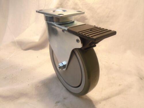 """Rigid 6/"""" x 1-1//4/""""  Swivel Casters Polyurethane Wheel w// Brake 300lb each 2 2"""