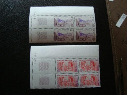 andorra (french) - stamp yvert and tellier n°313 314 x4 n (Z0) stamp andorra