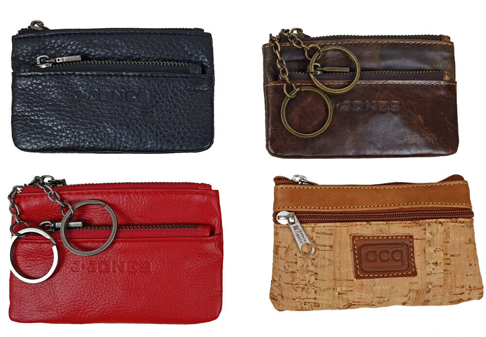 Vintage Leather Key Case Pouch Key Wallet Keyring Chain