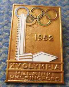 OLYMPIC-HELSINKI-1952-VERY-RARE-PARTICIPANT-PIN-BADGE