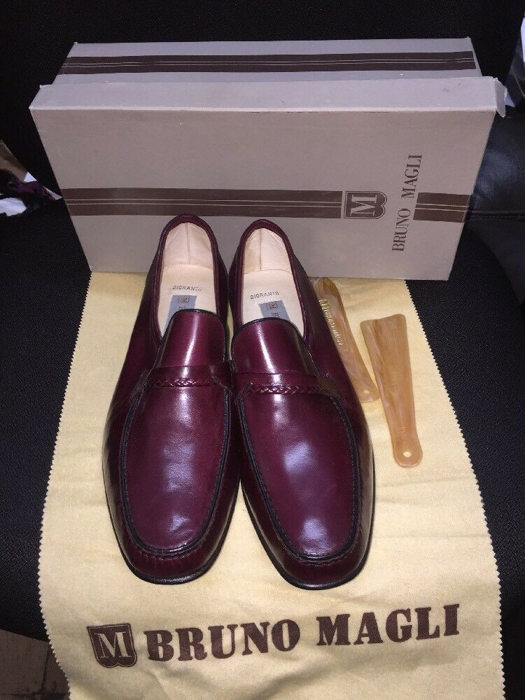 New Bruno Magli Gioranto 10 M Burgundy  Made In