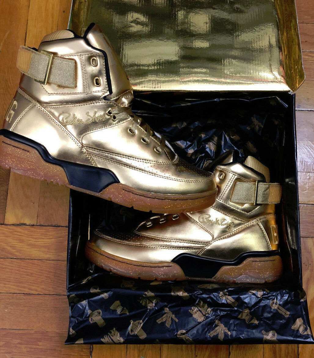 Ewing 33 HI x Teyana Taylor x Packer Shoes Gold Sz 12 Rare