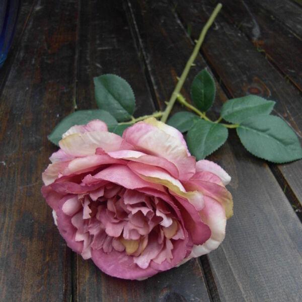 3pcs Pink Single Head Artificial Silk Rose Flower Bridal Bouquet Garden Decor