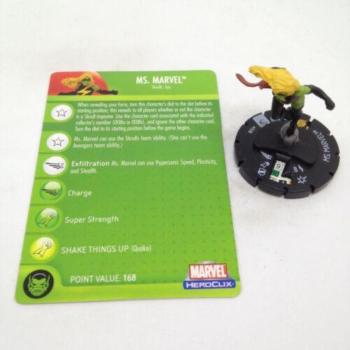 Marvel Heroclix Secret Invasion set Ms #008b Common figure w//card! Skrull