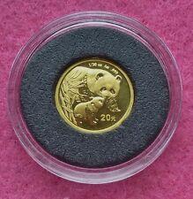 2004 CHINA PANDA GOLD 20 YUAN 1/20 oz COIN