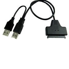 New/USB 2.0 to SATA S-ATA 22Pin Cable Adapter 2.5inch HD HDD Hard Disk Converter