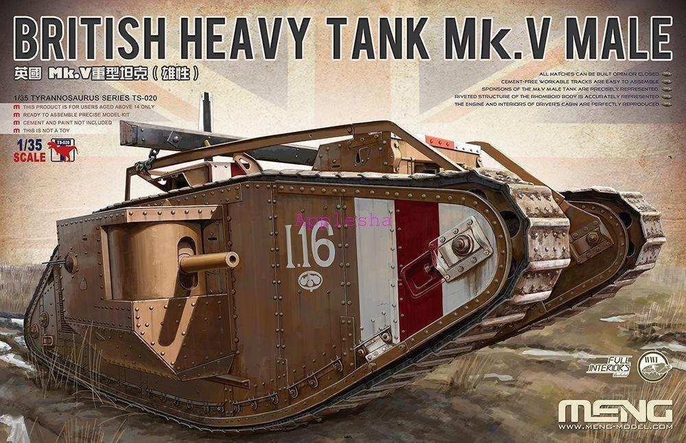 Meng Model 1 35 TS-020 WWI British Heavy Tank Mk.V Male