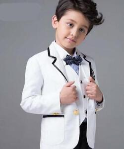 White-Cute-Kid-039-s-Formal-Wedding-Groom-Tuxedos-Flower-Boys-Children-Party-Suits