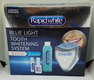 rapid white blue light tooth whitening system whiter teeth by 5 shades. Black Bedroom Furniture Sets. Home Design Ideas