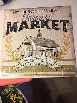 Farmers Market Wall Calendar 2021 - New Sealed ...