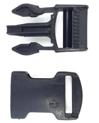 2 Hebillas completas liberación 25 mm negra ITW Nexus SR25 buckle release black