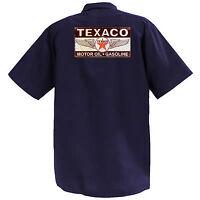 Texaco Motor Oil Iv - Mechanics Graphic Work Shirt Short Sleeve