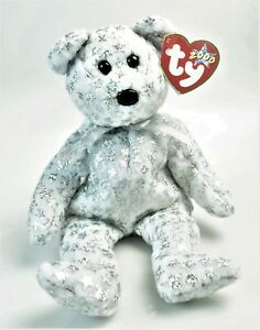 THE BEGINNING BEAR TY BEANIE BABY January 1 2000 SILVER SPARKLE ... 82bb4899fc8