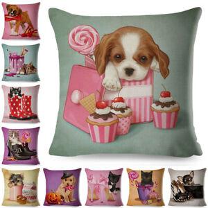 Cotton-Linen-Pillow-18-039-039-Home-Dog-Cat-Case-Sofa-Waist-Throw-Cushion-Cover-Decor