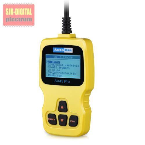 SX45 Pro OBD2 für Audi A2 A3 A4 A6 A8 ABS AIRBAG Öl-SERVICE Reset EPB Funktion