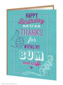 Mum Mummy Mother Birthday Greetings Card Funny Comedy Humour Novelty Cheeky Joke