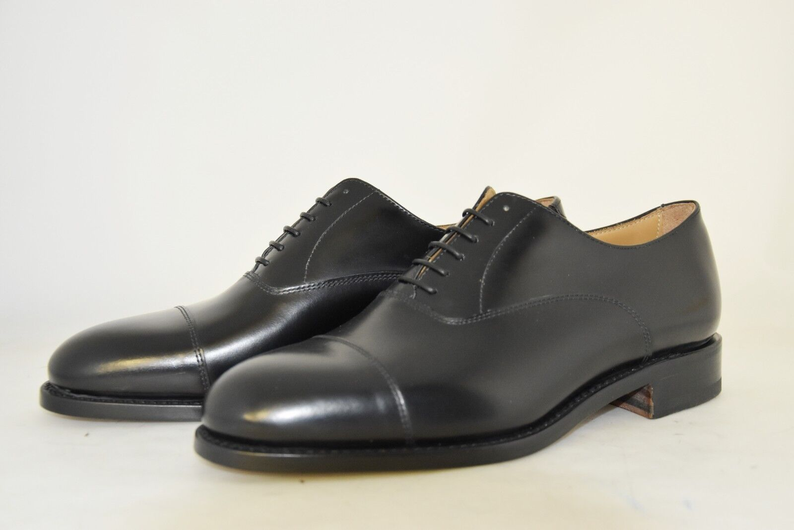 MAN-7eu-8us-OXFORD CAP TOE -FRANCESINA-nero CALF-VITELLO NERO-LEATHER SOLE