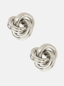 Knot-Stud-Earrings-Silver-Banana-Republic-NIB