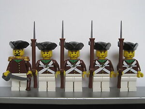 Lego PIRATES NAPOLEONIC WARS FRENCH NATIONAL GUARD Infantry Soldiers MINIFIGS