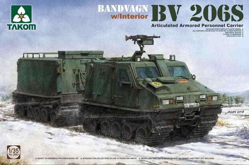 Takom 1 35 Bandvagn BV 206S w interior