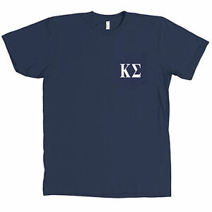 Kappa sigma bella canvas pocket navy t shirt fraternity for Frat pocket t shirts