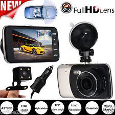 "Dual Lens 4"" HD 1080P IPS Car DVR LCD Dash Cam Camera Video Recorder G-sensor"