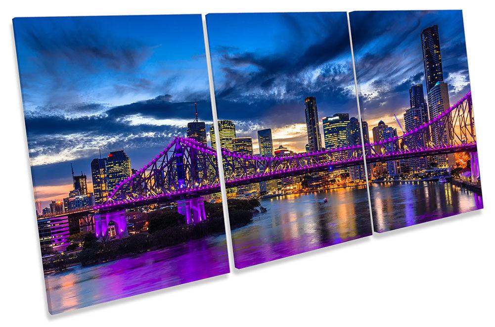 Horizonte de la ciudad de Brisbane Australia agudos LONA pared arte Foto impresión de agudos Australia 873724