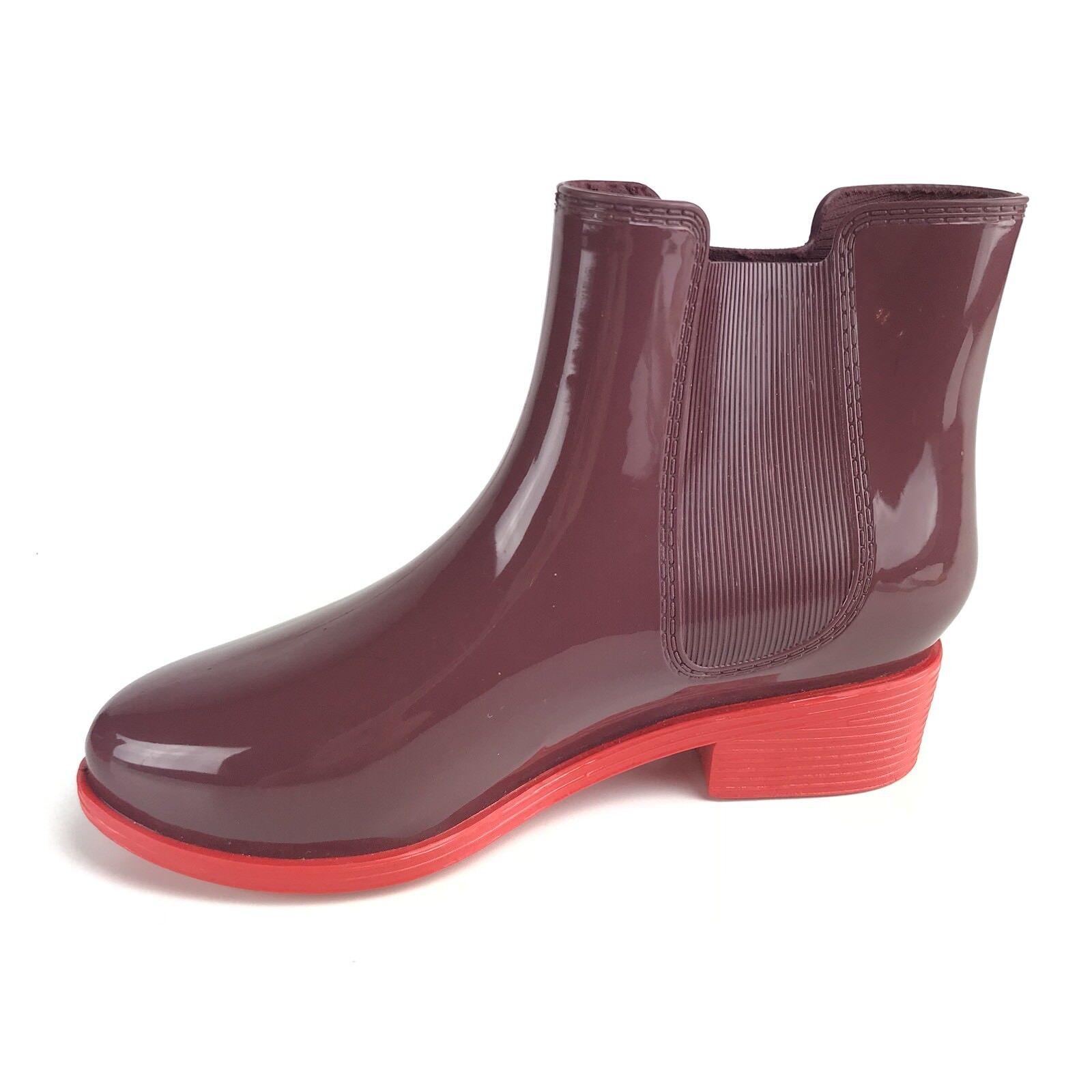 American Apparel zapatos Talla 5 mujer Ankle Rain botas púrpura rojo Sole  80