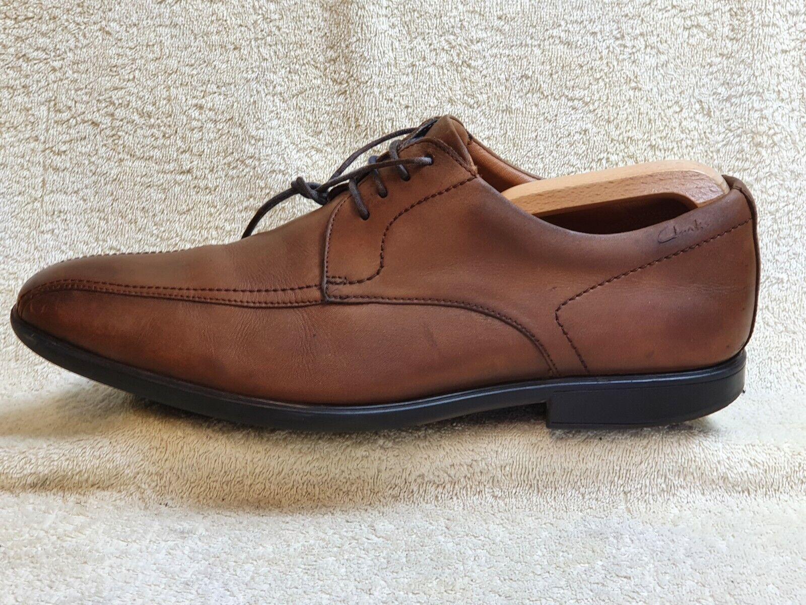 Clarks Cushion plus mens Comfort shoes Leather Brown UK 9 G EUR 43 US 10