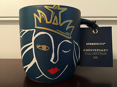 Starbucks Anniversary Mug 2016 Blue Siren 14 Ounce Cup Collectible NEW